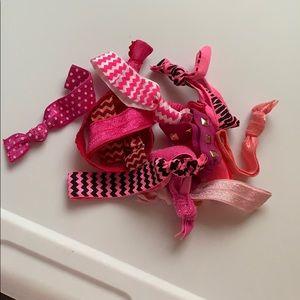 Assorted Pink Hair Ties